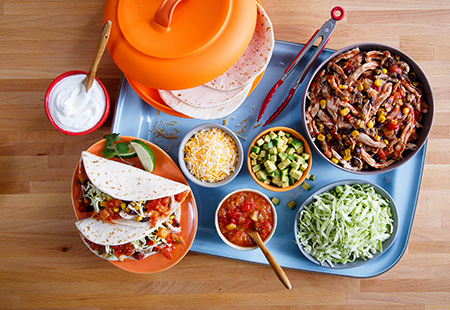 Mango Habanero Slow Cooker Chicken Tacos