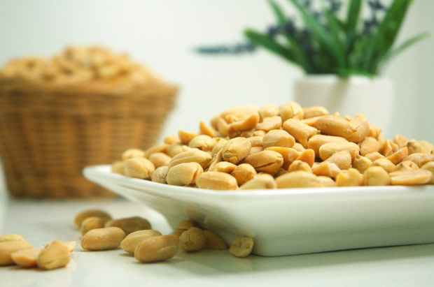 food plate nuts peanuts